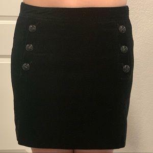 "90s vintage ""clueless"" style black mini skirt sz 6"